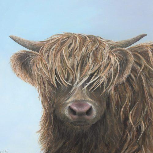 Hattie - a highland cow greetings card
