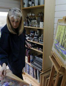 Ingrid painting