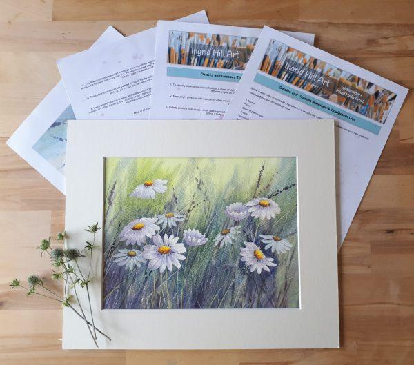 Daisies & Grasses Online Watercolour Workshop