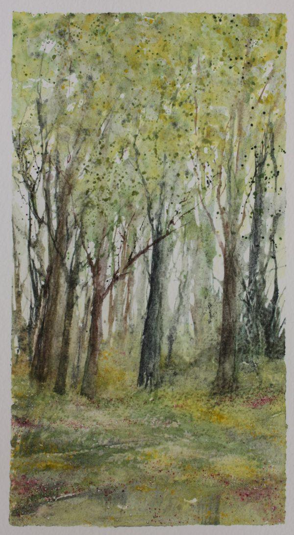 Summer Woodland Series Mixed Media Painting