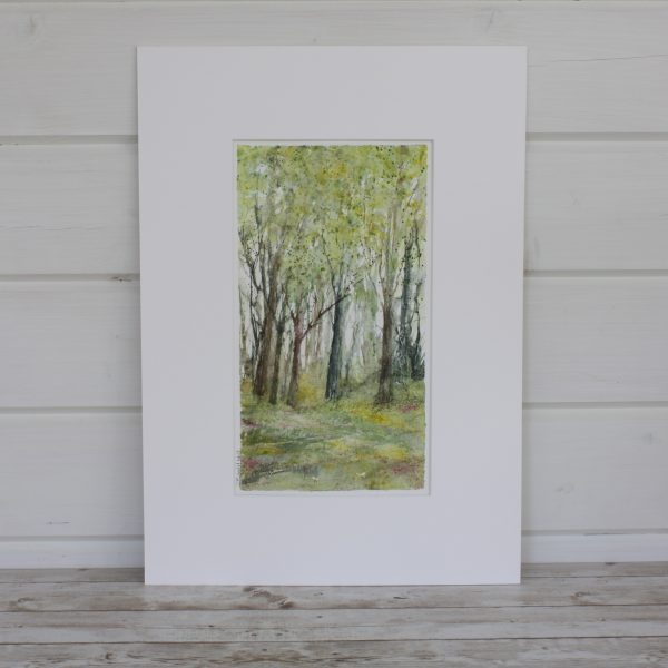 Summer - Woodland Series Mounted Mixed Media Painting