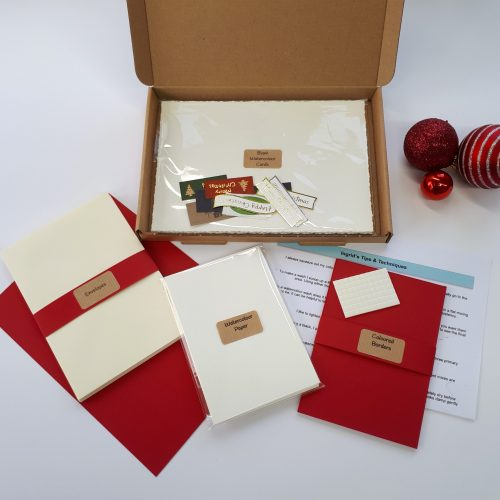 Paint Your Own... A6 Christmas Cards Letterbox Gift