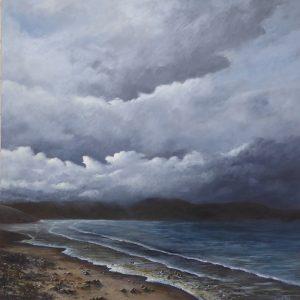 Atmospheric acrylic seascape
