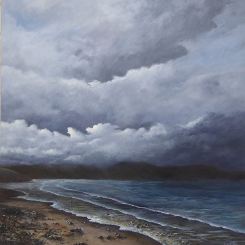 Atmospheric seascape painting