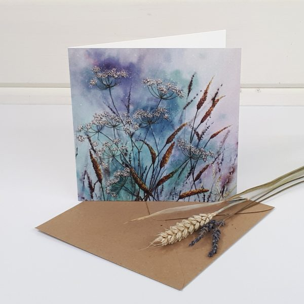 Afternoon Breeze - a contemporary floral greetings card