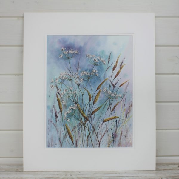 Afternoon Breeze Mounted Mixed Media Painting