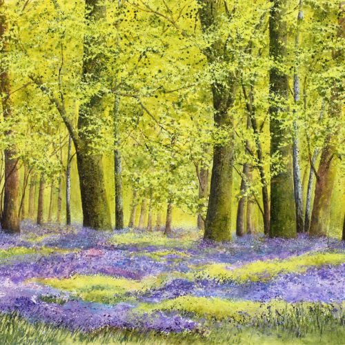 Carpet of Blue - a bluebell woods painting