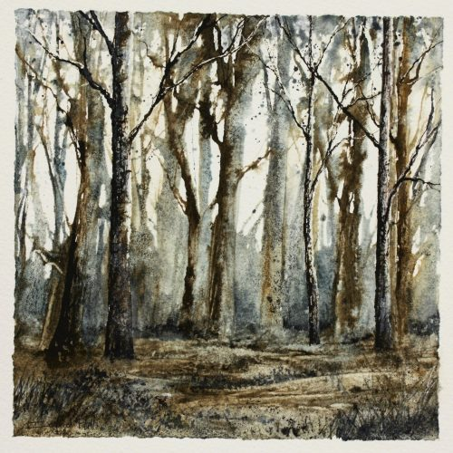 Chestnut Wood - a contemporary landscape painting