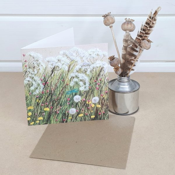 Cow Parsley and Campions - a floral greetings card