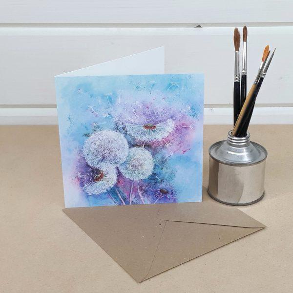 Dandelion Clocks - a floral greetings card