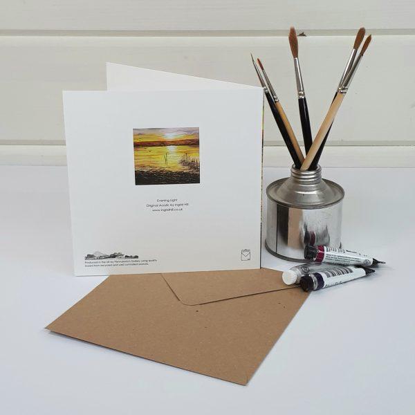 Evening Light - a sunset greetings card