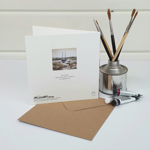 Evening Tide - a seascape greetings card