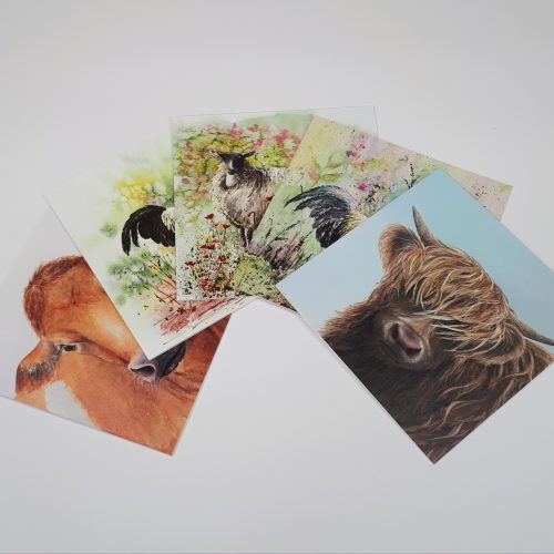 Farmyard Animals Collection of greetings cards