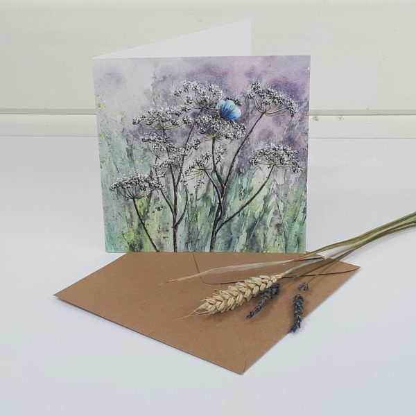 Fleeting Moment - a butterfly greetings card