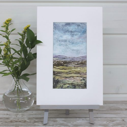 Heather Moor - Mini Landscapes Series, mixed media painting