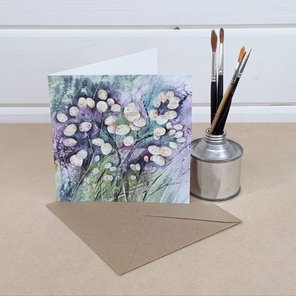 Honesty - a floral greetings card