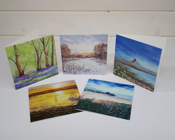 Land, Sea & Sky collection of blank greetings cards