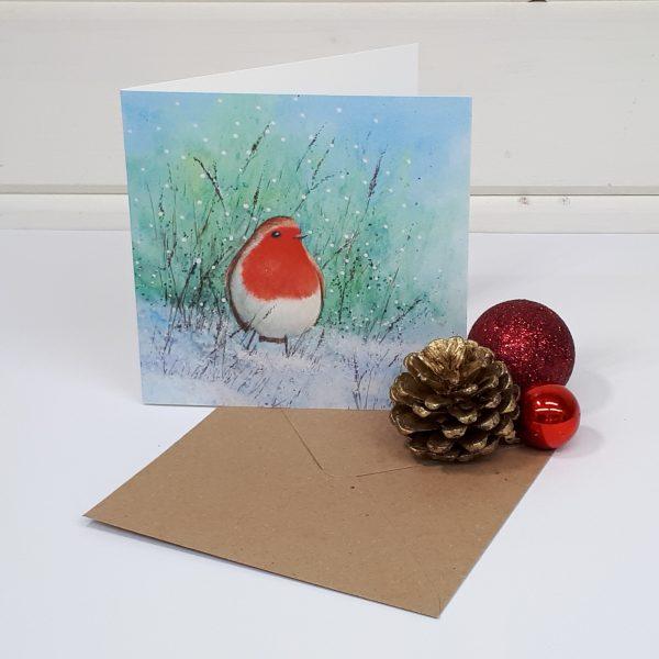 Robin Redbreast - a Christmas greetings card