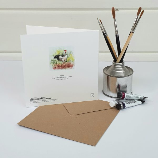 Rooster - a cockerel greetings card