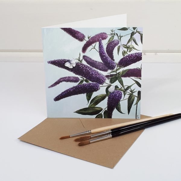 Seeking Nectar - a floral greetings card
