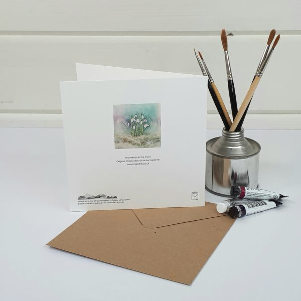 Snowdrops in the Snow - a snowdrops greetings card