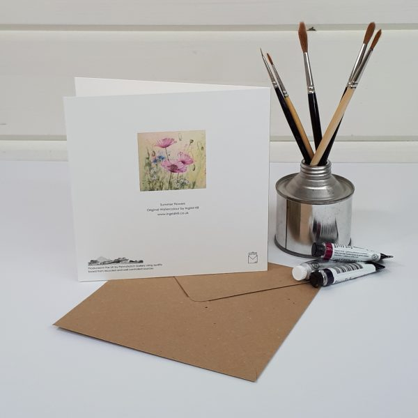 Summer Flowers - a poppy greetings card
