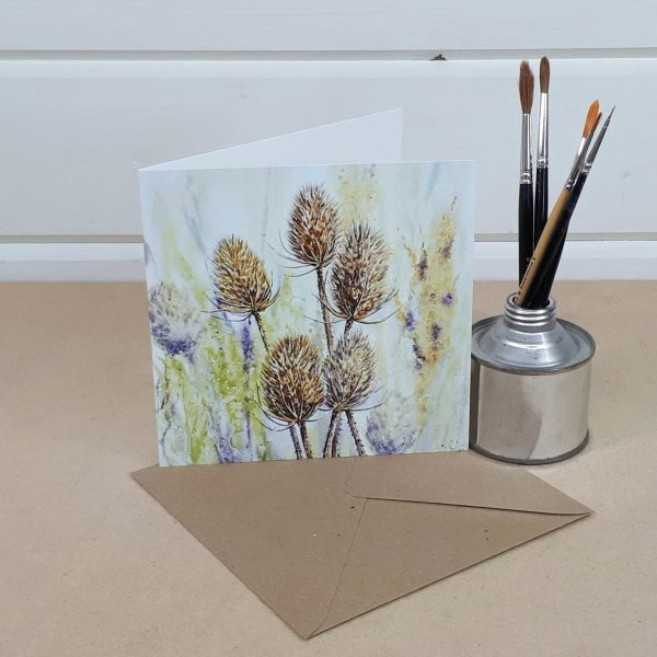 Teasels - a teasel greetings card