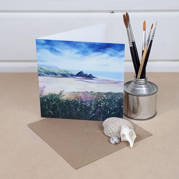 Three Cliffs Bay - a Gower greetings card