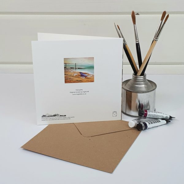 Tranquillity - a boat greetings card