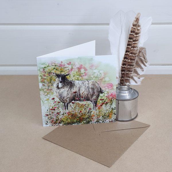 Watching Ewe - a sheep greetings card