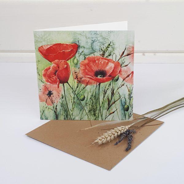 Wild Meadows - a poppy greetings card