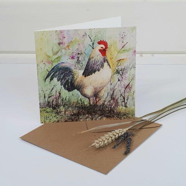 Winston - a cockerel greetings card
