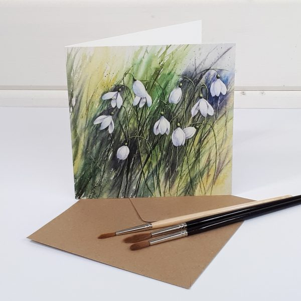 Winter Gems - a snowdrop greetings card