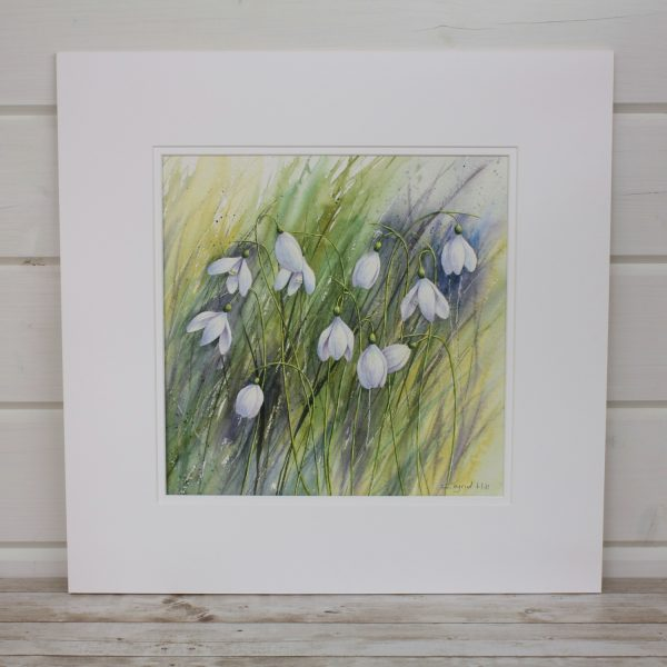 Winter Gems Mounted Watercolour Painting