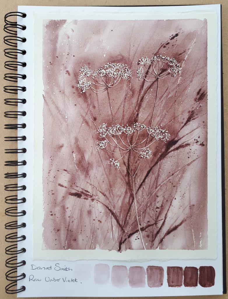 Daniel Smith Raw Umber Violet Watercolour Study
