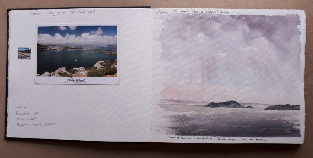 Saunders Waterford sketchbook page
