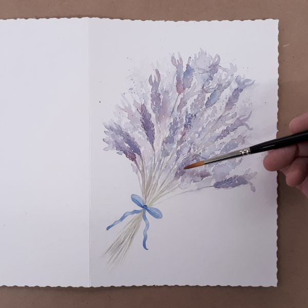 Painting a greetings card