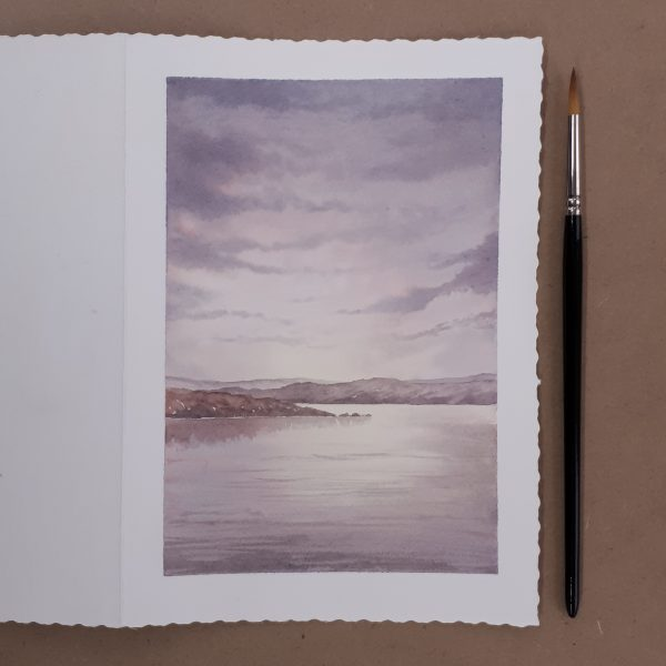 Hand painted watercolour greetings card