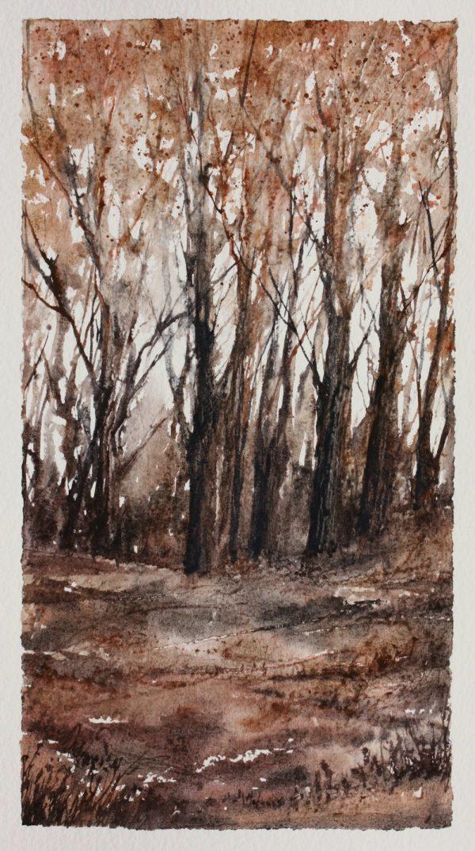Autumn - Woodland Series Mixed Media Painting