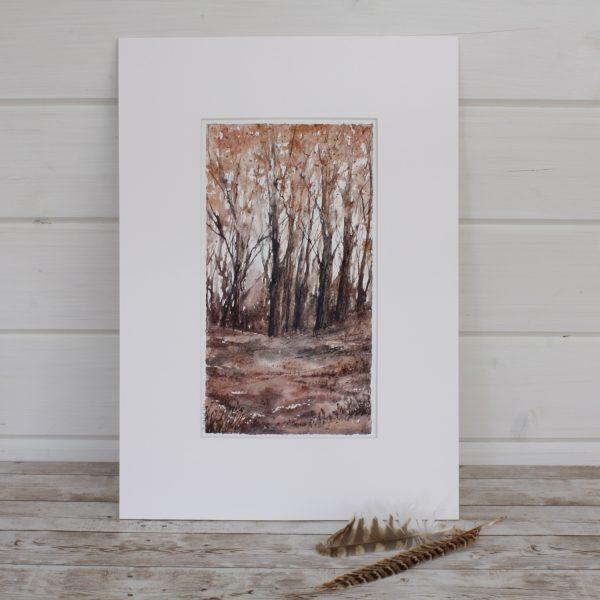 Autumn - Woodland Series mounted