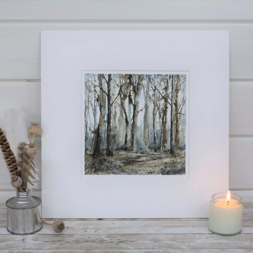 Chestnut Wood - Woodland Series, with candle & feathers