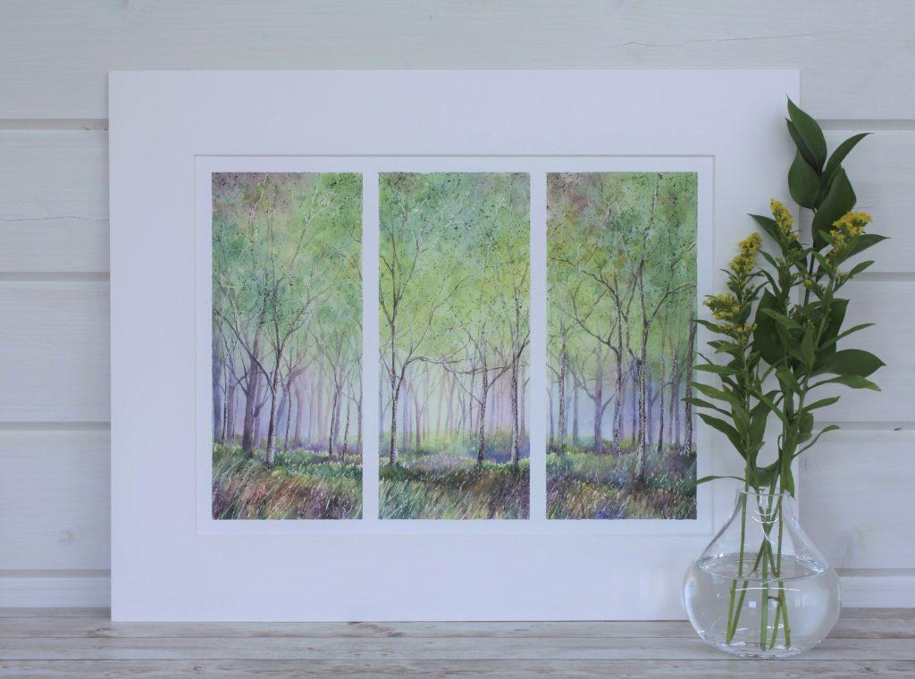 Triptych Woodland Series